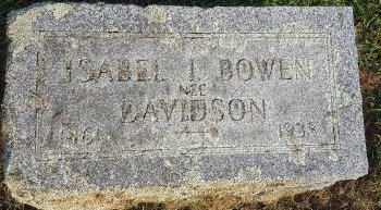 BOWEN DAVIDSON NEE, ISABEL I - Union County, Kentucky | ISABEL I BOWEN DAVIDSON NEE - Kentucky Gravestone Photos
