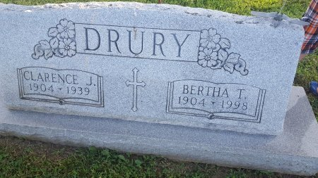 DRURY, BERTHA THOMAS - Union County, Kentucky | BERTHA THOMAS DRURY - Kentucky Gravestone Photos