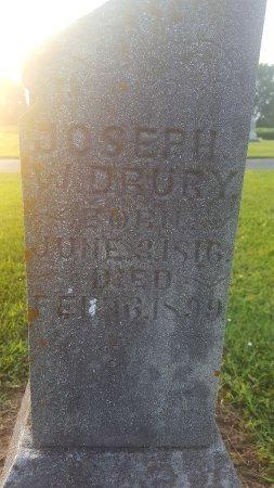 DRURY, JOSEPH W - Union County, Kentucky   JOSEPH W DRURY - Kentucky Gravestone Photos