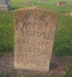 DRURY, KATE - Union County, Kentucky | KATE DRURY - Kentucky Gravestone Photos