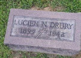 DRURY, LUCIEN N - Union County, Kentucky | LUCIEN N DRURY - Kentucky Gravestone Photos