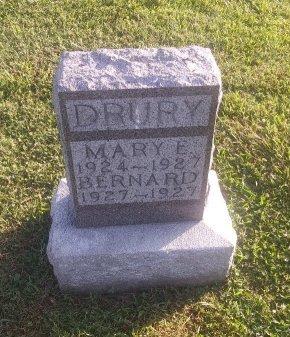 DRURY, BERNARD - Union County, Kentucky | BERNARD DRURY - Kentucky Gravestone Photos