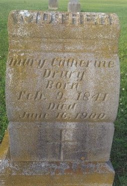 DRURY, MARY CATHERINE - Union County, Kentucky | MARY CATHERINE DRURY - Kentucky Gravestone Photos