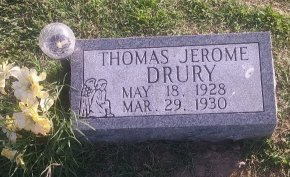 DRURY, THOMAS JEROME - Union County, Kentucky | THOMAS JEROME DRURY - Kentucky Gravestone Photos