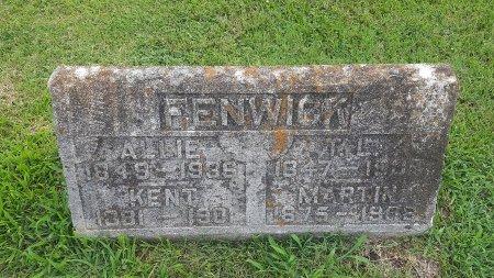 FENWICK, ALLIE - Union County, Kentucky   ALLIE FENWICK - Kentucky Gravestone Photos