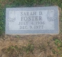 FOSTER, SARAH D - Union County, Kentucky | SARAH D FOSTER - Kentucky Gravestone Photos