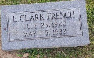 FRENCH, E. CLARK - Union County, Kentucky | E. CLARK FRENCH - Kentucky Gravestone Photos