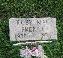FRENCH, RUBY MAE - Union County, Kentucky | RUBY MAE FRENCH - Kentucky Gravestone Photos
