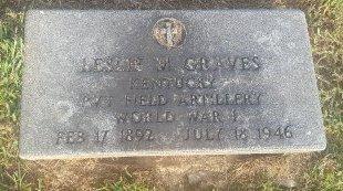 GRAVES (VETERAN WW1), LESLIE M - Union County, Kentucky | LESLIE M GRAVES (VETERAN WW1) - Kentucky Gravestone Photos