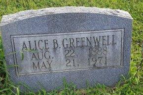 GREENWELL, ALICE B - Union County, Kentucky | ALICE B GREENWELL - Kentucky Gravestone Photos