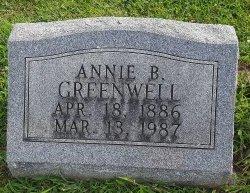 GREENWELL, ANNIE B - Union County, Kentucky   ANNIE B GREENWELL - Kentucky Gravestone Photos