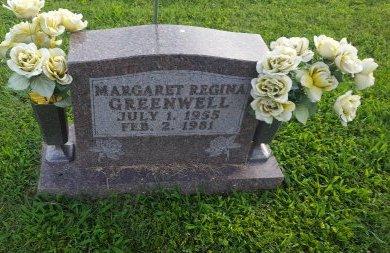GREENWELL, MARGARET REGINA - Union County, Kentucky   MARGARET REGINA GREENWELL - Kentucky Gravestone Photos
