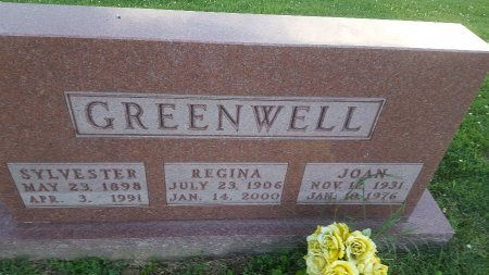 GREENWELL, JOAN - Union County, Kentucky | JOAN GREENWELL - Kentucky Gravestone Photos