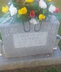 GUNTER, CAROLYN SUE - Union County, Kentucky | CAROLYN SUE GUNTER - Kentucky Gravestone Photos