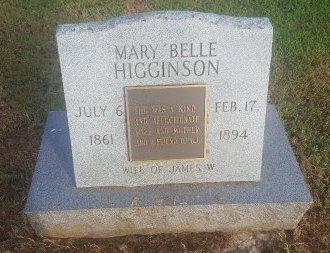 HIGGINSON, MARY BELLE - Union County, Kentucky | MARY BELLE HIGGINSON - Kentucky Gravestone Photos