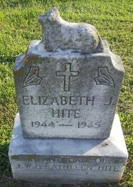 HITE, ELIZABETH J - Union County, Kentucky | ELIZABETH J HITE - Kentucky Gravestone Photos