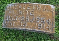 HITE, ELIZABETH - Union County, Kentucky | ELIZABETH HITE - Kentucky Gravestone Photos