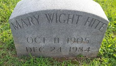 HITE, MARY - Union County, Kentucky | MARY HITE - Kentucky Gravestone Photos