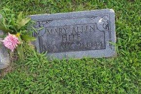 HITE, MARY ALLEN - Union County, Kentucky | MARY ALLEN HITE - Kentucky Gravestone Photos