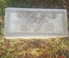 HORTON, MARGIE MARIE - Union County, Kentucky | MARGIE MARIE HORTON - Kentucky Gravestone Photos