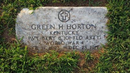 HORTON (VETERAN WW1), GREEN H - Union County, Kentucky   GREEN H HORTON (VETERAN WW1) - Kentucky Gravestone Photos