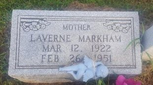 MARKHAM, LAVERNE - Union County, Kentucky | LAVERNE MARKHAM - Kentucky Gravestone Photos