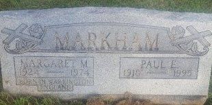 MARKHAM, PAUL E - Union County, Kentucky | PAUL E MARKHAM - Kentucky Gravestone Photos