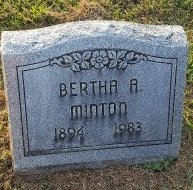 MINTON, BERTHA A - Union County, Kentucky | BERTHA A MINTON - Kentucky Gravestone Photos