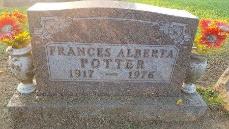 POTTER, FRANCES ALBERTA - Union County, Kentucky | FRANCES ALBERTA POTTER - Kentucky Gravestone Photos