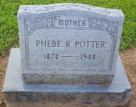 POTTER, PHEBE R - Union County, Kentucky | PHEBE R POTTER - Kentucky Gravestone Photos