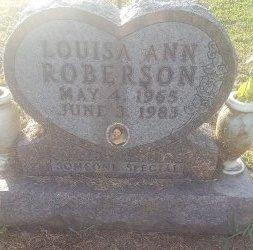 ROBERSON, LOUISA ANN - Union County, Kentucky | LOUISA ANN ROBERSON - Kentucky Gravestone Photos