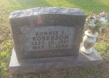 ROBERSON, RONNIE E - Union County, Kentucky | RONNIE E ROBERSON - Kentucky Gravestone Photos