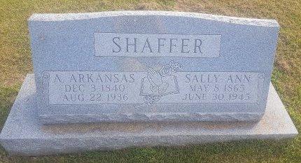 SHAFFER, A ARKANSAS - Union County, Kentucky   A ARKANSAS SHAFFER - Kentucky Gravestone Photos