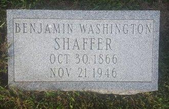 SHAFFER, BENJAMIN WASHINGTON - Union County, Kentucky | BENJAMIN WASHINGTON SHAFFER - Kentucky Gravestone Photos
