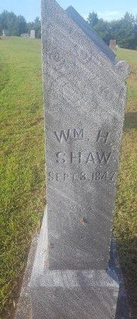 SHAW, WILLIAM H - Union County, Kentucky | WILLIAM H SHAW - Kentucky Gravestone Photos