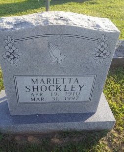 SHOCKLEY, MARIETTA - Union County, Kentucky   MARIETTA SHOCKLEY - Kentucky Gravestone Photos