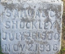 SHOCKLEY, SAMUAL C - Union County, Kentucky | SAMUAL C SHOCKLEY - Kentucky Gravestone Photos