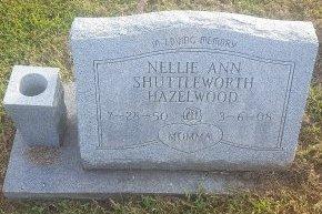 HAZELWOOD SHUTTLEWORTH, NELLIE ANN - Union County, Kentucky | NELLIE ANN HAZELWOOD SHUTTLEWORTH - Kentucky Gravestone Photos