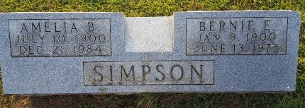 SIMPSON, BERNIE E - Union County, Kentucky | BERNIE E SIMPSON - Kentucky Gravestone Photos