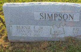 SIMPSON, BERNIE E JR - Union County, Kentucky | BERNIE E JR SIMPSON - Kentucky Gravestone Photos