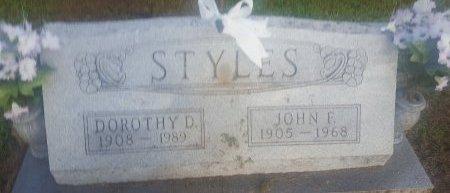 STYLES, DOROTHY D - Union County, Kentucky   DOROTHY D STYLES - Kentucky Gravestone Photos