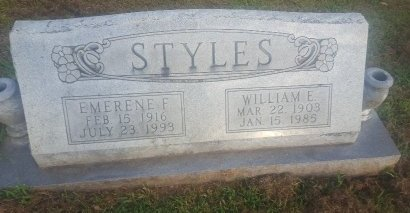 STYLES, EMERENE F - Union County, Kentucky | EMERENE F STYLES - Kentucky Gravestone Photos