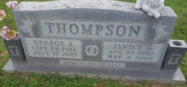 THOMPSON, GEORGE A - Union County, Kentucky | GEORGE A THOMPSON - Kentucky Gravestone Photos
