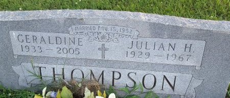 THOMPSON, JULIAN H - Union County, Kentucky   JULIAN H THOMPSON - Kentucky Gravestone Photos