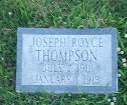 THOMPSON, JOSEPH ROYCE - Union County, Kentucky   JOSEPH ROYCE THOMPSON - Kentucky Gravestone Photos