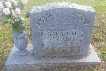 TOOMBS, SARAH - Union County, Kentucky | SARAH TOOMBS - Kentucky Gravestone Photos