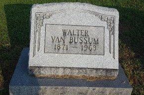 VAN BUSSUM, WALTER - Union County, Kentucky   WALTER VAN BUSSUM - Kentucky Gravestone Photos