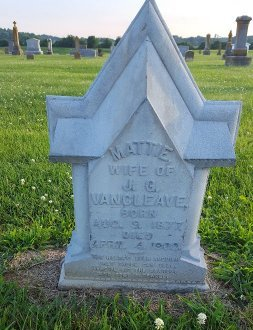 VANCLEAVE, MATTIE - Union County, Kentucky | MATTIE VANCLEAVE - Kentucky Gravestone Photos