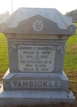 VANSICKLE, JOHNNIE F - Union County, Kentucky   JOHNNIE F VANSICKLE - Kentucky Gravestone Photos