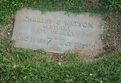 WATSON (VETERAN KOREA), CHARLES E - Union County, Kentucky | CHARLES E WATSON (VETERAN KOREA) - Kentucky Gravestone Photos